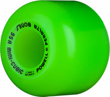 POWELL PERALTA MINI CUBIC GREEN WHEELS 64MM/95A