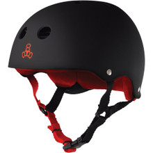 Triple Eight Brainsaver Rubber Helmet Black