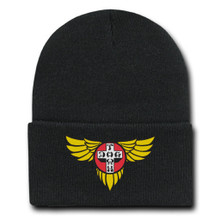 Dogtown Wings Embroidered Beanie (Black)