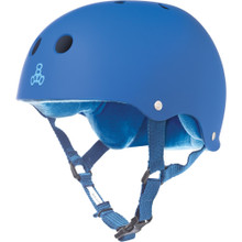 Triple Eight Brainsaver Rubber Helmet Royal Blue