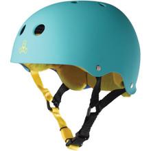 Triple Eight Brainsaver Rubber Helmet Baja Teal