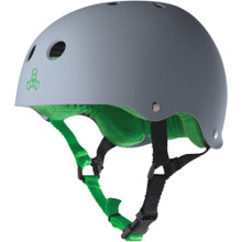 Triple Eight Brainsaver Rubber Helmet Carbon Gray
