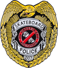 Powell Peralta Skateboard Police Lapel Pin