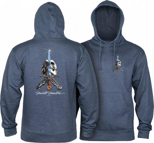 POWELL PERALTA Black Skull /& Sword Hoodie Skateboard Hoody Large