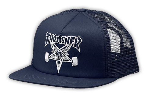 15f4beef531 Thrasher Skate Goat Emblem Trucker Snapback Hat Thrasher-Sk8-Goat-Hat4