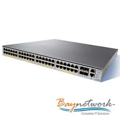 Cisco WS-C4948-S 4948 w// AC Power 10//100//1000 Switch 1 Year Warranty