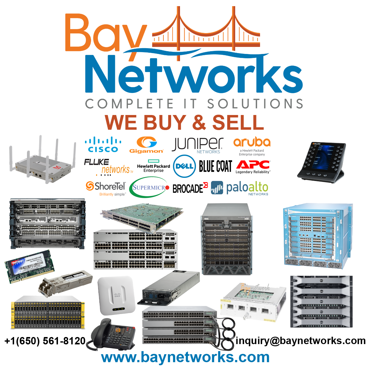 We buy Cisco network equipment