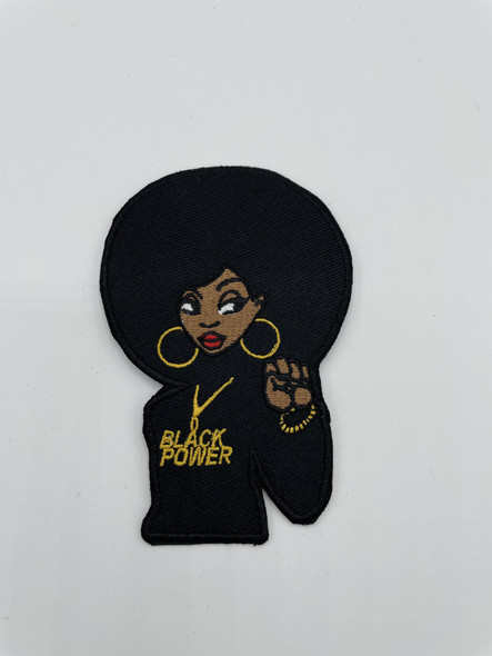 Black Power Girl Patch