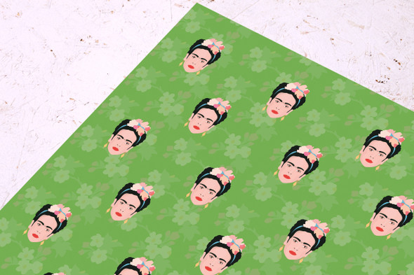 Frida Kahlo Wrapping Paper- Presents- Birthday- Gift wrap