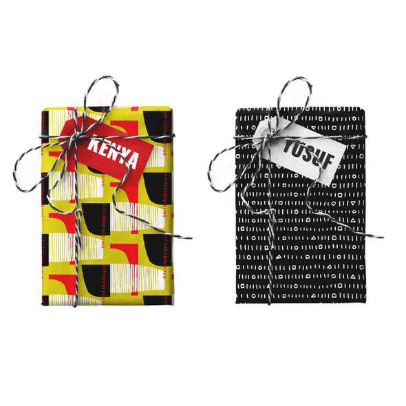 Kenya-Yusuf Double-Sided Stone Gift Wrapping Paper