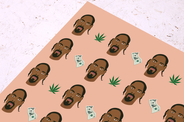 Snoop Dogg Wrapping Paper - Celebrity Gift wrap - Presents