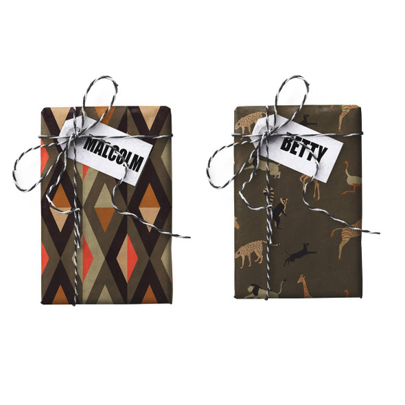 Malcolm-Betty Double-sided Stone Gift Wrapping Paper