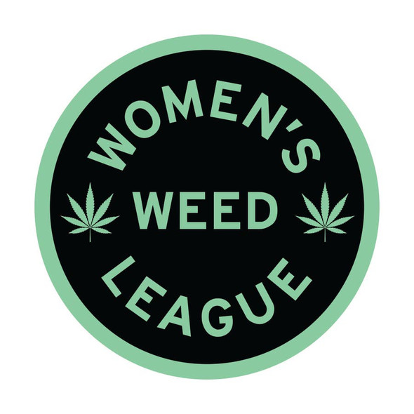WOMEN'S WEED LEAGUE CannabisSticker - New Mint Green Color