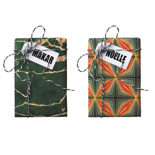 Makar Noelle Double-Sided Stone Gift Wrapping Paper