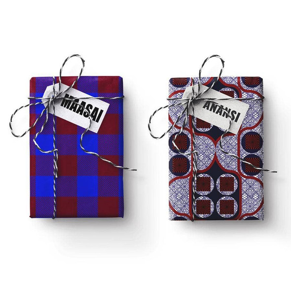 Anansi-Maasai Double-Sided Stone Gift Wrapping Paper