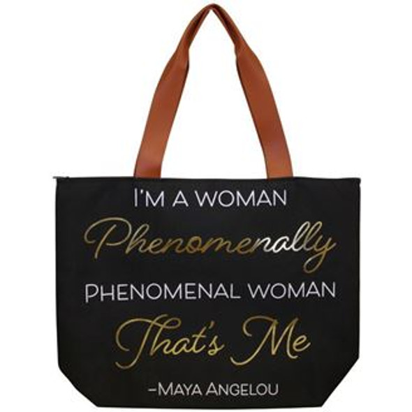 Maya Angelou Phenomenal Canvas Bag