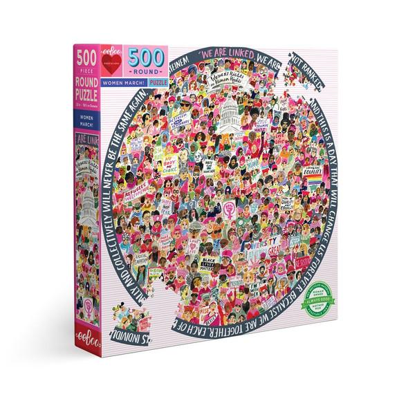 Women March! 500 Piece Round Puzzle