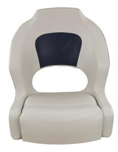 Springfield Marine | Deluxe Sport Bucket Seat | Off White & Navy (1043691)