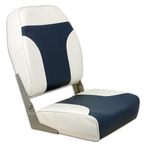 Springfield Marine | Fold Down Economy Coach HB Seat | Off White & Blue (1040667)