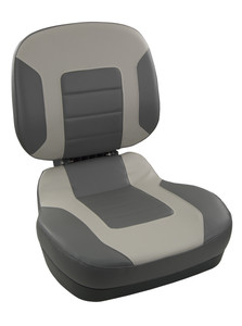 Springfield Marine | Fish Pro II - Low Back | Folding Boat Seat | Charcoal & Gray (1041583)