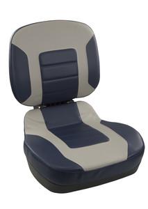 Springfield Marine | Fish Pro II - Low Back | Folding Boat Seat | Navy & Gray (1041519)