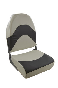 Springfield Marine   Premium Folding Seat   Off White & Charcoal (1062089)