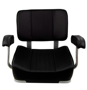 Springfield Marine | Deluxe Captain's Seat with Armrests | Black (1040009)