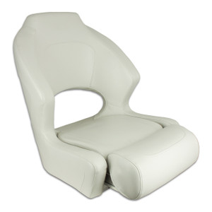 Springfield Marine | Deluxe Sport Flip Up / Lean To Seat | Off White (1043259)