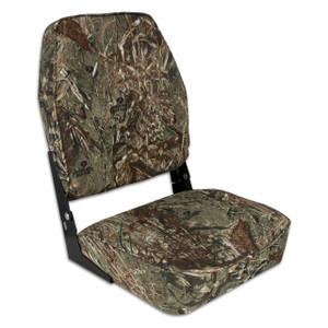 Springfield Marine | Fold Down High Back Boat Seat | Mossy Oak Duck Blind (1040647)