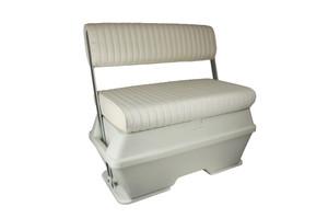 Springfield Marine | Cooler Bench Flip Back Boat Seat | Off White (1042010)