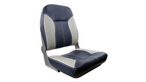 Springfield Marine | Sport Folding Boat Seat | Navy & Gray (1040513)