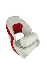 Springfield Marine | Deluxe Sport Flip-Up Seat | Red & White (1043255)
