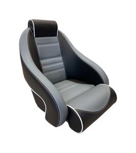 Springfield Marine | Stingray Flip-Up Seat | Black & Gray (1040930-01)