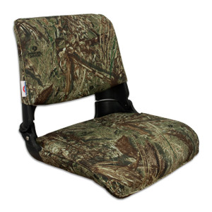 Springfield Marine | Skipper Fold Down Boat Seat | Mossy Oak Duck Blind (1061021)