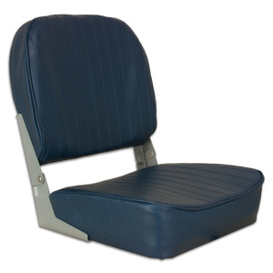 Springfield Marine   Fold Down Boat Seat   Navy Blue (1040621)