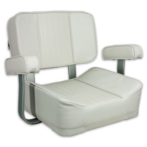 Springfield Marine | Deluxe Captain's Seat with Armrests | Off White (1040002)