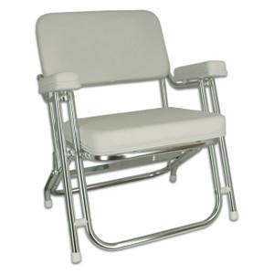 Springfield Marine | Classic Folding Deck Chair | White (1080021)