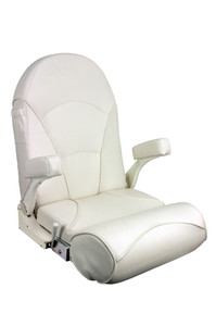 Springfield Marine | Royal Flip-Up / Lean-To Boat Seat | Off-White (1040800)