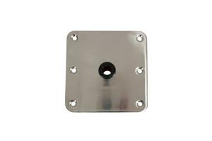 "Springfield Marine | KingPin Series | 7"" x 7"" Polished Floor Base | Stainless Steel (3620001-P)"