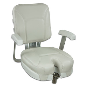 Springfield Marine | Ladder Back Chair with Gimbal | Off White (1061302)