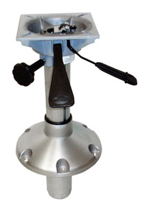 "Springfield Marine | 2-3/8"" Series | Mainstay | Adjustable Height Pedestal with Swivel Seat Mount | 9"" - 14.25"" | 2-3/8"" Post Diameter (1250254-L)"