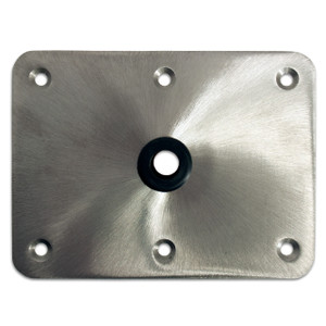 "Springfield Marine | KingPin Series | 6"" X 8"" Floor Base | Stainless Steel (3620004)"