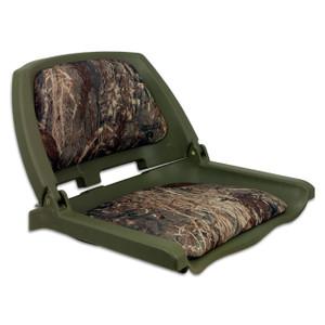 Springfield Marine | Traveler Fold Down Boat Seat | Mossy Oak Duck Blind (1061107-C)