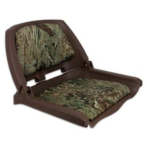 Springfield Marine | Traveler Fold Down Boat Seat | Mossy Oak Duck Blind (1061108-C)