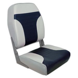 Springfield Marine | Fold Down Economy Coach HB Seat | Gray & Blue (1040661)