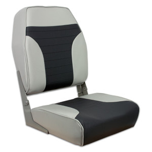 Springfield Marine | Fold Down Economy Coach HB Seat | Gray & Charcoal (1040663)