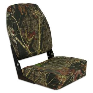 Springfield Marine | Fold Down High Back Boat Seat | Mossy Oak Break-Up Country (1040646)
