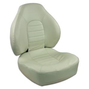 Springfield Marine | Fish Pro I - Mid Back Folding Boat Seat | Off White (1041636)