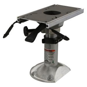 "Springfield Marine | Mainstay Series | Power Rise Adjustable Pedestal with Flatside Floor Base| 12.5"" - 15.5"" | Fits 2-7/8"" (1260350-SLC)"