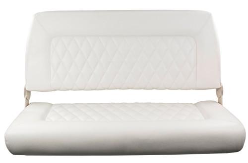 Springfield Marine   Double Wide Folding Seat   White (1042039)